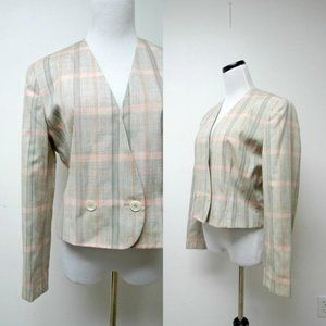VTG Pendleton plaid jacket . made in USA